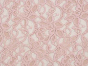 elastische Spitze mit Baumwolle Blumen, altrosa