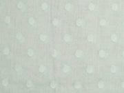Voile Baumwolle gewebte Punkte, hellgrün