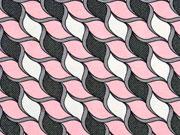 Viskosejersey grafische Seile, rosa grau
