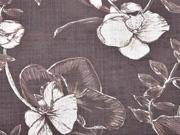 Baumwolle Viskose Blumenblätter, mattes Braun