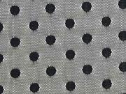 Tüll Punkte elastisch, schwarz