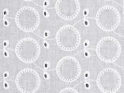 bestickte Baumwolle Batist Ovale, weiß