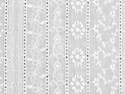RESTSTÜCK 40 cm bestickte Baumwolle Batist Bordüre, weiß