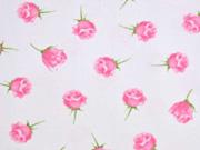 Jersey Rosen mit Duft, weiß