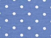 Jersey Punkte 5 mm, hellblau jeansblau