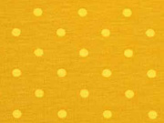 Jersey Punkte 5 mm, gelb ocker