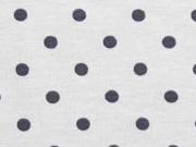 Jersey Punkte 5 mm, dunkelgrau hellgrau