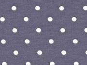Jersey Punkte 5 mm, hellgrau dunkelgrau