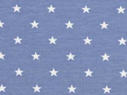 Jersey Sterne 5 mm, hellblau jeansblau