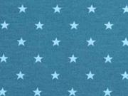 Jersey Sterne 5 mm, hellblau petrol