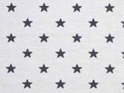 Jersey Sterne 5 mm, dunkelgrau hellgrau