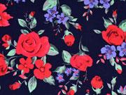 Jersey Rosen, rot dunkelblau