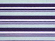 Dekostoff maritime Streifen, dunkelblau mint weiss
