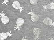 Jersey Ananas Silber metallic, grau meliert