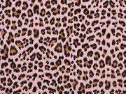 Musselin Leopardenmuster, altrosa