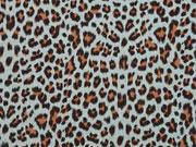 Musselin Leopardenmuster, altmint