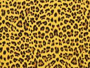 RESTSTÜCK 27 cm Musselin Leopardenmuster, ocker