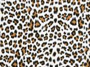 RESTSTÜCK 97 cm Musselin Leopardenmuster, cremeweiß