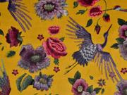 Dekosamt Blumen Kraniche, rot ocker