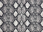 Viskose Schlangenmuster, helltaupe cremeweiß schwarz