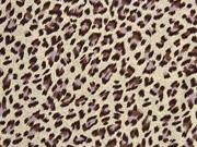 Viskose Leopardenmuster, braun sand