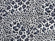 Viskose Leopardenmuster, grau schwarz cremeweiß