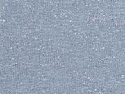 Sweatstoff silber Glitzer angeraut, rauchblau