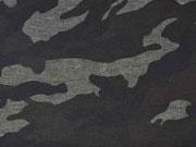 Punto di Roma Heavy Stretchjersey Camouflage,nachtblau mittelgrau