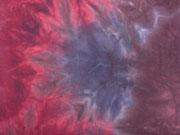 Jersey Batiklook, weinrot blau