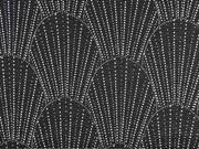 Jersey Fächer Strasssteine, schwarz