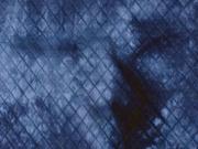 Steppjersey Batik, dunkelblau