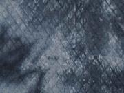 Steppjersey Batik, nachtblau dunkelgrau