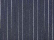 Jacquard Jersey Nadelstreifen, weiß dunkelblau
