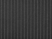 Jacquard Jersey Nadelstreifen, weiß schwarz