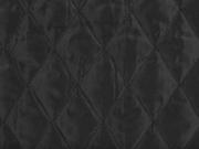 Jackenstoff wattierter Stepper uni, schwarz