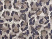 Wildlederimitat großes Leomuster, braun