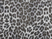 Wildlederimitat kleines Leomuster, grau