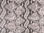 Lederimitat Schlangenmuster mit Struktur, hellrosa taupe
