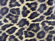 RESTSTÜCK 44 cm Lederimitat Leopardenmuster mit Struktur, braun