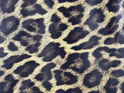 Lederimitat Leopardenmuster mit Struktur, braun