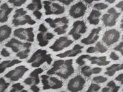 Lederimitat Leopardenmuster mit Struktur, schwarz