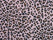 Viskose Leopardenmuster, schwarz hellrosa