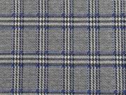 Jacquard Jersey Glencheck, royalblau schwarz weiß
