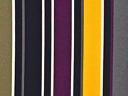 Blusencrepe College Streifen, bordeauxrot gelb grau