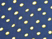 Viskosestoff Kringel, dunkles jeansblau