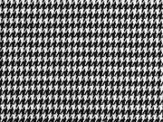 Jacquardjersey Pepita Hahnentritt, schwarz weiß