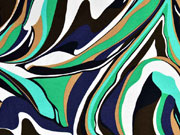 Viskosejersey Abstract, dunkelblau grün