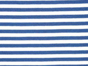Bündchen Streifen 5 mm garngefärbt, mittelblau weiß