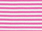 Bündchen Streifen 5 mm garngefärbt, pink weiß