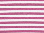 Bündchen Streifen 5 mm garngefärbt, altrosa weiß